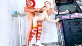 Lily Rader Pinball Roller Girl at Teens Love Huge Cocks